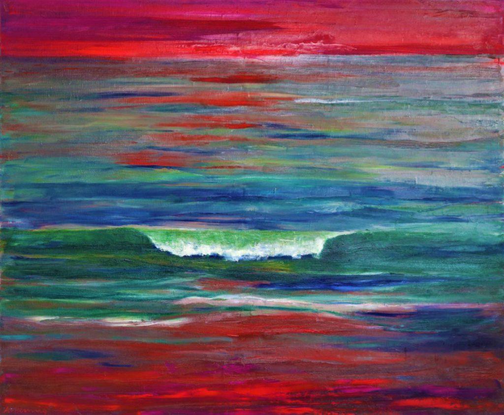 Die Welle 100 x 120 cm Öl a.L.